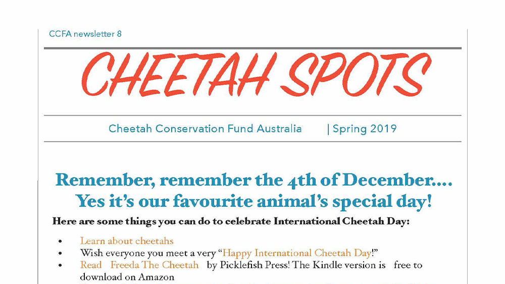 Cheetah Spots – Issue 8