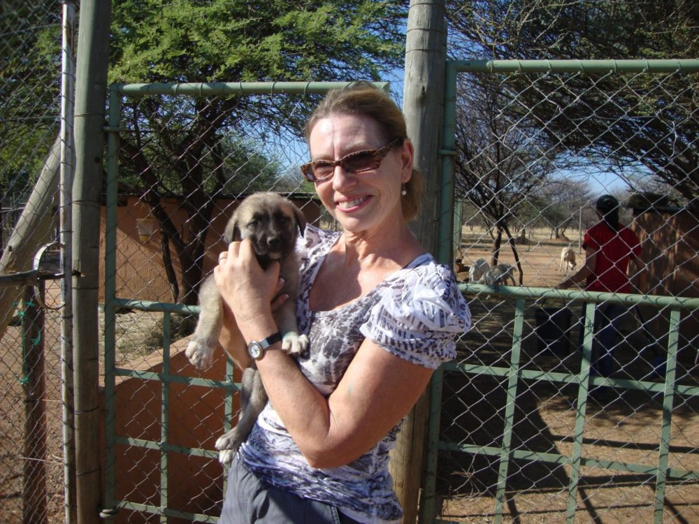 One of our Key Supporters Volunteers in Namibia