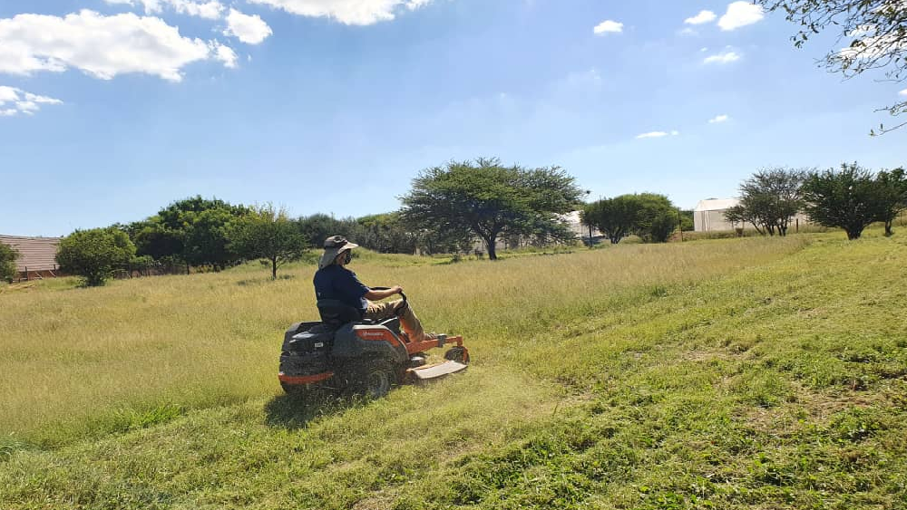 New Riding Lawn Mower at CCF Namibia