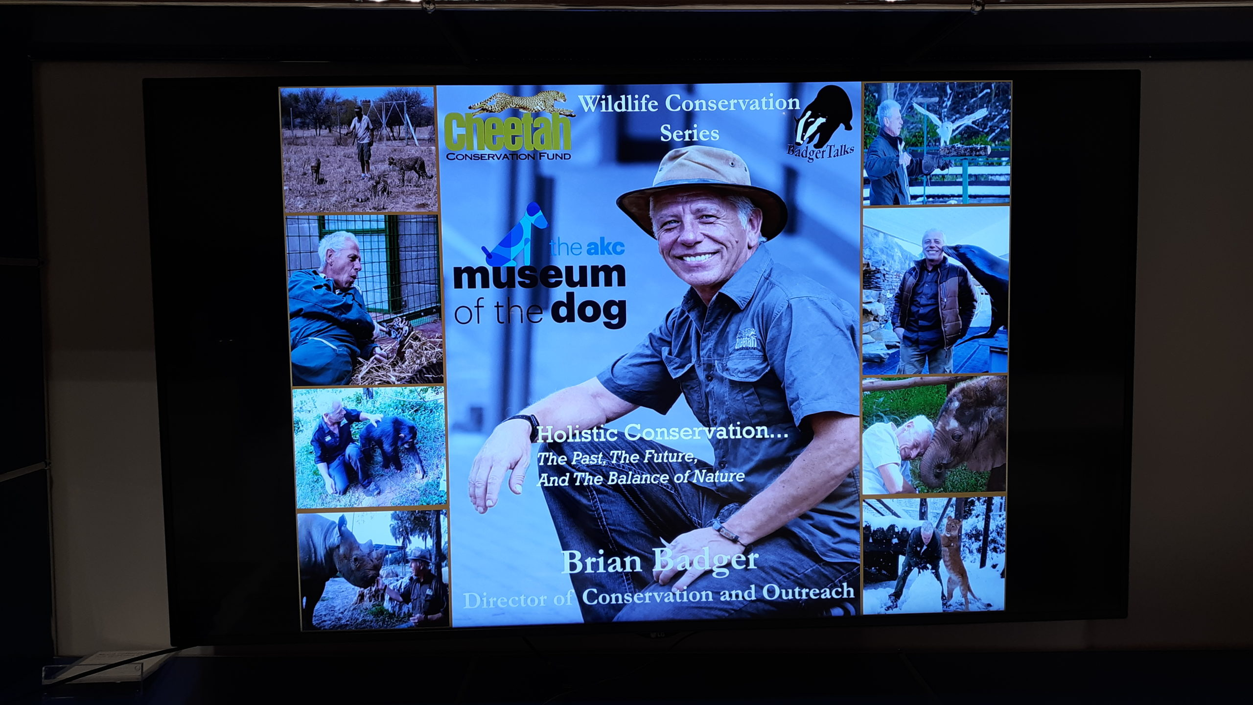 Brian Badger at the Dog Museum in New York City