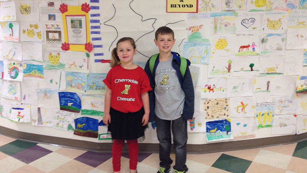Cherrydale Primary and the Earth Day 2015 Cheetah Walk
