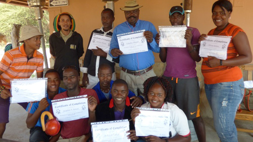 Omaheke Region Attends CCF's Naturalist Training Camp