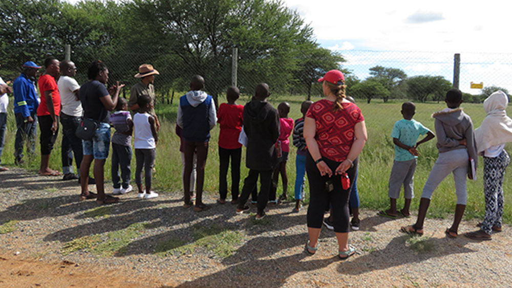 School Kids from Omuulukila Primary School Visit the Cheetahs