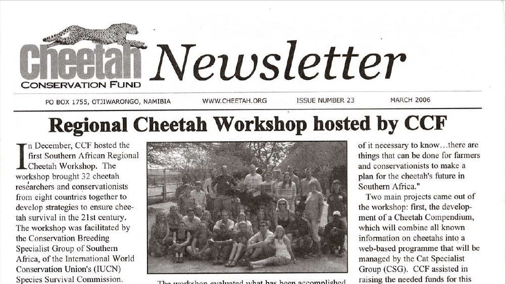 CCF Newsletter No. 23 – March 2006
