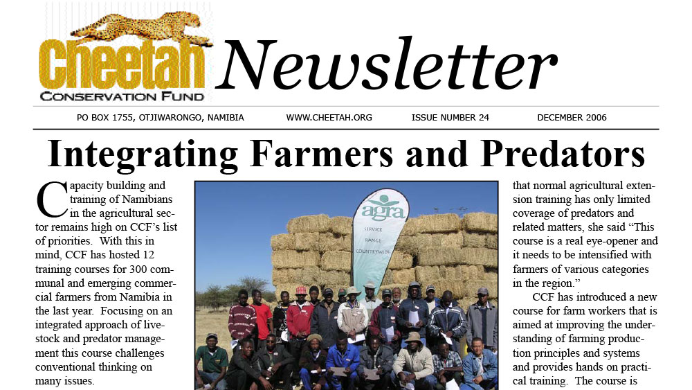 CCF Newsletter No. 24 – December 2006