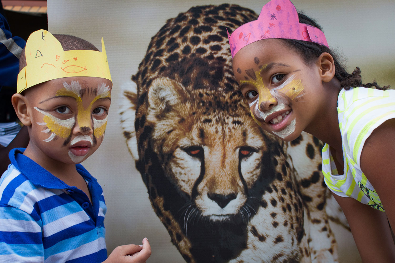 CCF Kids at a cheetah event