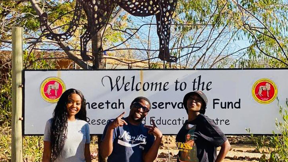 Namibian Music Artists Visit CCF and Make Music to Support the Cheetah